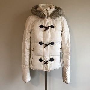 Juicy Couture parka puffer hooded jacket ivory